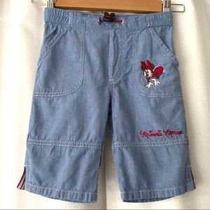 Disney H&M Minnie Mouse Chambray Pull-On Shorts 4Y